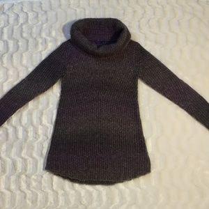 Prana cowl neck knit purple sweater size xs